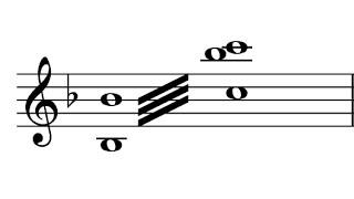Exemplo para trinado em oitava - Tremolo II