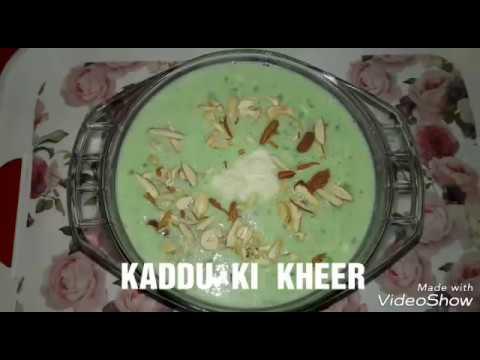KADDU  KI  KHEER