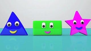 façonner chanson | apprendre des formes | chansons pour les enfants d'âge préscolaire