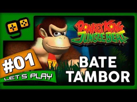Let's Play:Donkey Kong Jungle Beat - Parte 1 - Bate Tambor!