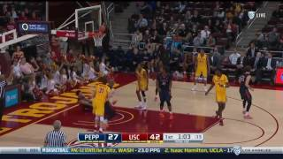 Men's Basketball: USC 93, Pepperdine 67 - Highlights 12/11/16