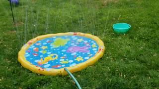 Amazon review: 5 stars - BANZAI sprinkle & splash mat