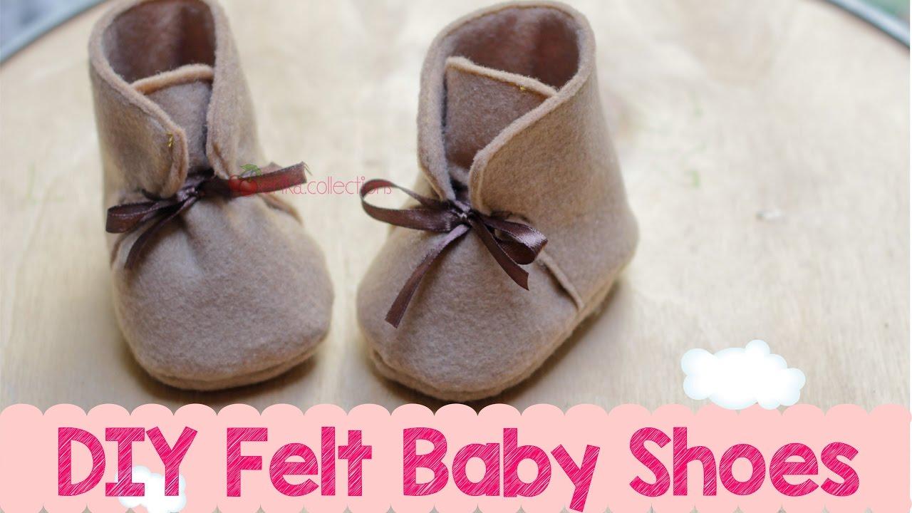 Pattern Baby Shoes Felt