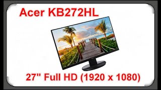 "ACER KB272HL 27"" Full HD 1920 x 1080 Monitor"