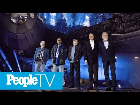 Harrison Ford, Mark Hamill & George Lucas Reunite To Launch Disneyland's 'Star Wars' Park | PeopleTV