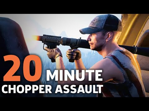 Far Cry 5: 20 Minutes of Air Assault with Choppers - Gameplay