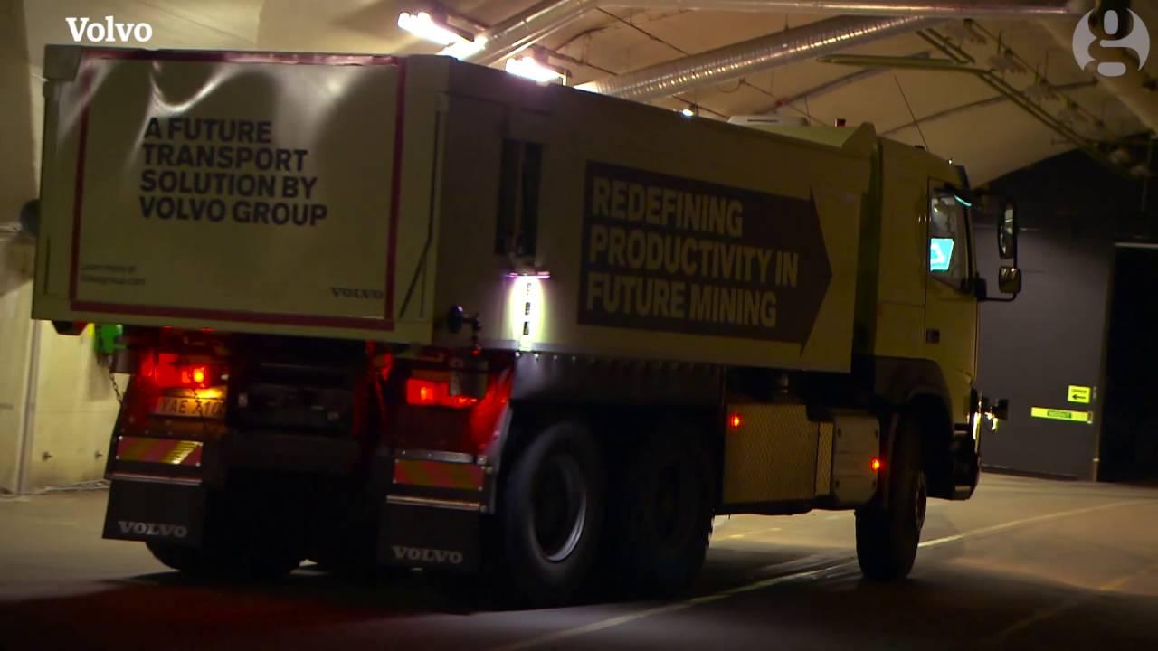 Descent of the machines: Volvo's robot mining trucks get