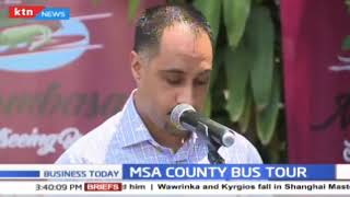 Mombasa county government launches a luxury double-Decker sightseeing bus