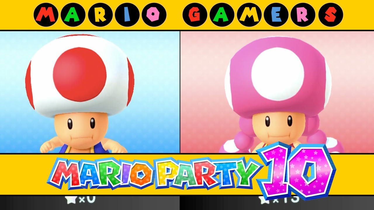 Mario Party 10 - Airship Central (Toad vs Toadette ...