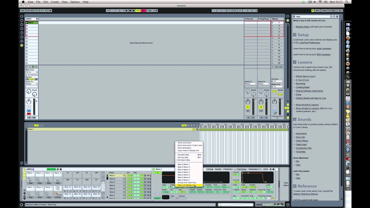 Ableton Live drum rack tutorial 4: easy macro mapping (a hack)
