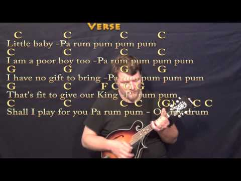 The Little Drummer Boy - Mandolin Cover Lesson in C with Chords ...