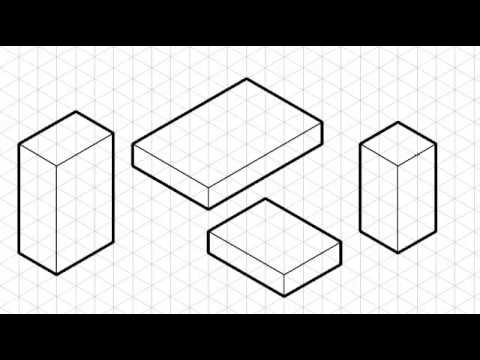 How to draw an isometric crate using grid paper. by