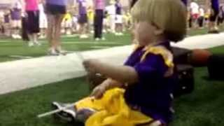 2 year old drumming the LSU Pre-game song