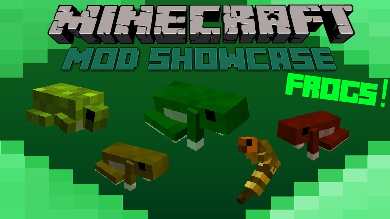Minecraft Mod Showcase- FROGS!! INSANE PETS! - YouTube