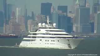 Yacht TOPAZ on New York Harbor Webcam 4-20-2014