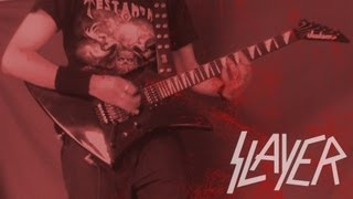 Slayer Hell Awaits instrumental dual guitar cover (all guitars HD sound and image with solos)