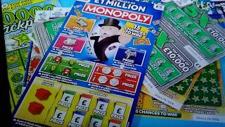 It's the Big £40.00 Sunday Scratchcard game..with New Monopoly..£20,000 Green..Lucky Stars..5x Cash.