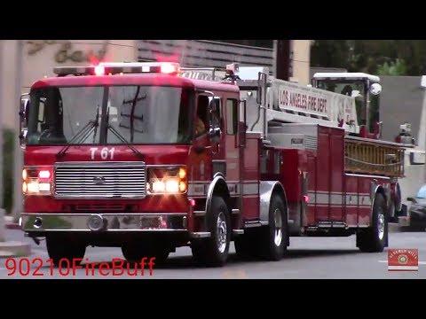 LAFD Light Force 61 Responding