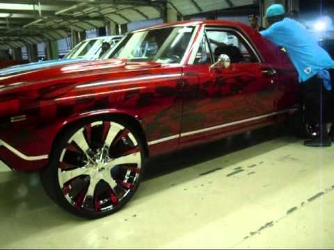Candy Red El Camino On 24s Youtube