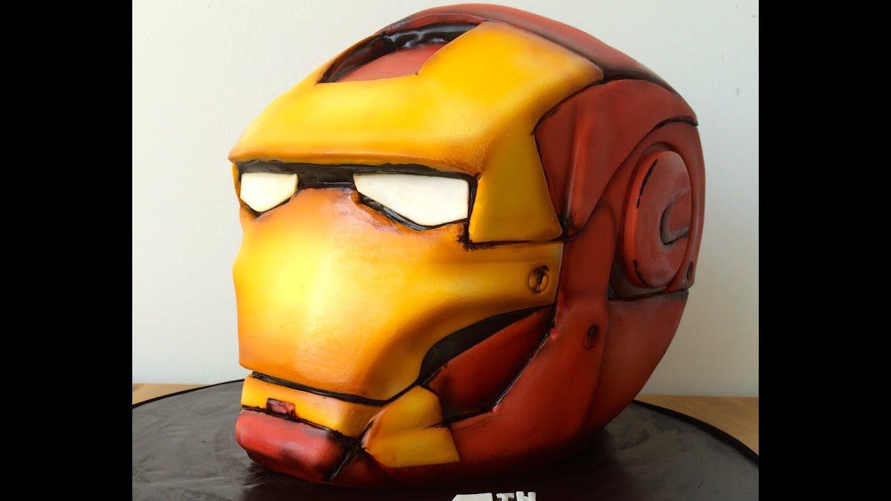 Marvel s Iron Man Custom Cake - YouTube