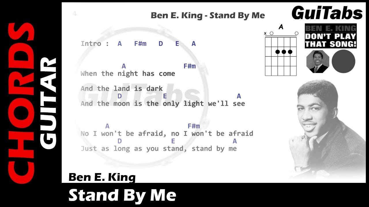 ben e king stand by me lyrics and guitar chords youtube. Black Bedroom Furniture Sets. Home Design Ideas