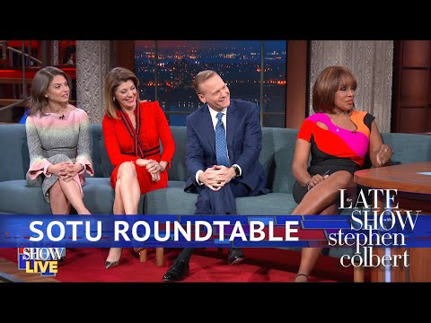 &39;CBS This Morning&39; Hosts Stay Up Late For The SOTU