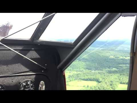 Curtiss Robin N534N airborne over Catskills