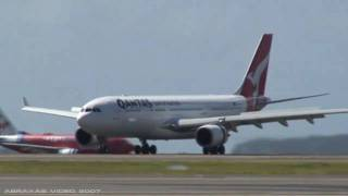 Spotting @ Sydney Airport - Rwy 34L - 31 December 2007, Part 4 - Abraxas Video