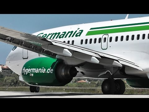Germania 737 Extreme Jetblast - Plane Spotter View Takeoff - Reactions-GoPro-Skiathos,2nd St Maarten