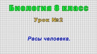 Биология 8 класс (Урок№2 - Расы человека.)