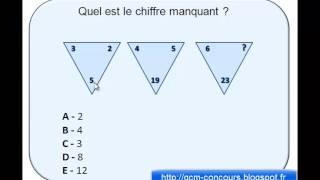 test psychotechnique triangle avec des chiffres réponse 1
