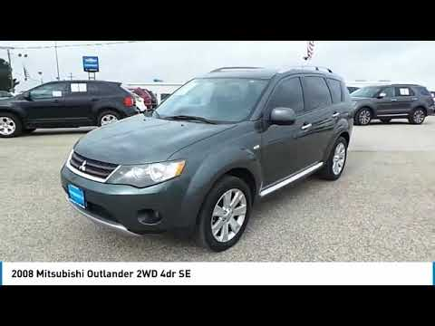 2008 Mitsubishi Outlander Midland Texas 8z014225t Youtube