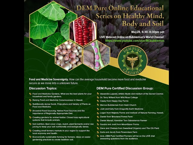 DEM Pure  Online Educational Series on Healthy Mind, Body and Soil