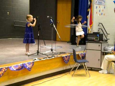 Deanna and Jordyn performing at the Overhills Elementary School Talent Show