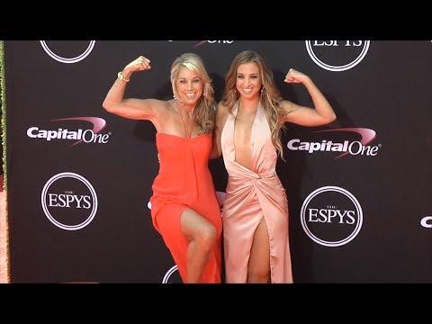 Denise Austin and Katie Austin 2017 ESPY Awards Red Carpet