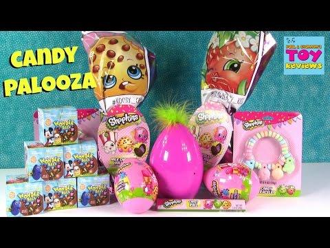 Disney Wonder Ball Shopkins Surprise Egg Candy Tasting Review Blind Bag Opening | PSToyReviews