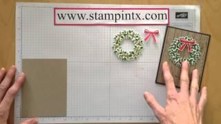 Part 2 Wondrous Wreath Christmas Card Tutorial
