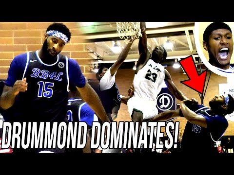 Andre Drummond DOMINATES in CLOSE FINISH at Drew League! STARTS SKIPPING AROUND LOL