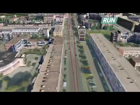Marathon Rotterdam 2015  - 3D Vogelvlucht over het parcours