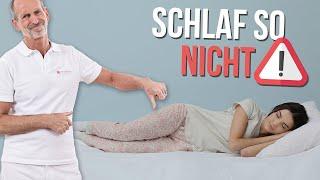 Rückenschmerzen im Schlaf abtrainieren – Geht das?