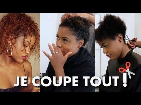 JE COUPE TOUT MES CHEVEUX : Big chop en direct du salon ! | ASHLEY