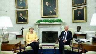 Angela Merkel à la Maison Blanche : Biden veut consolider sa relation avec Berlin • FRANCE 24