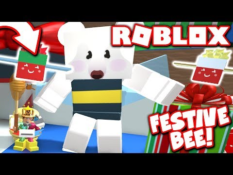 I GOT THE *NEW* LIMITED FESTIVE BEE in Bee Swarm Simulator CHRISTMAS Update!! (Roblox)