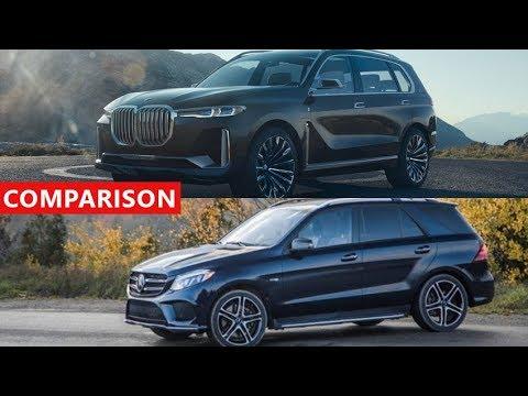 2018 BMW X7 Concept Vs Mercedes Benz GLE SUV Comparison