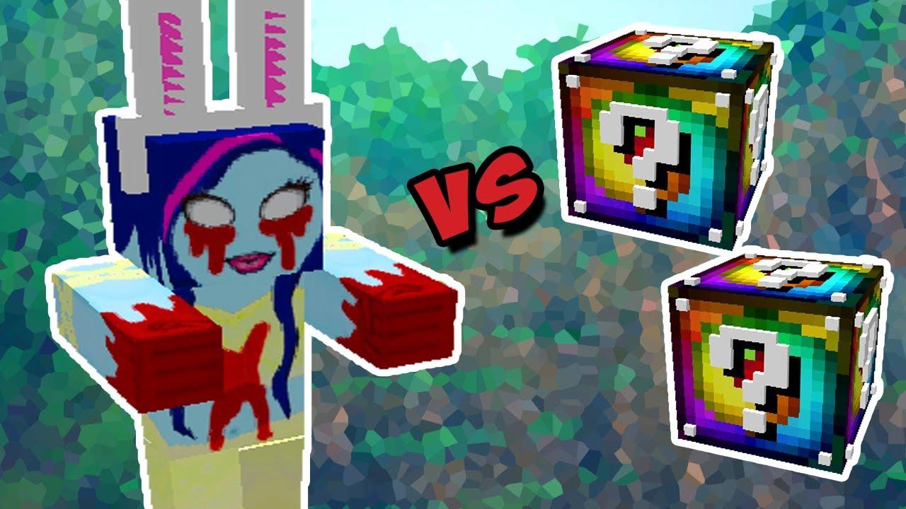 Garota Assustadora Vs Lucky Block Spiral Minecraft Lucky Block