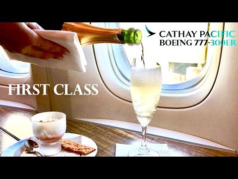 Cathay Pacific First Class Boeing 777-300ER Los Angeles to H