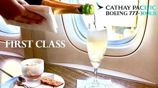 cathay pacific first class boeing 777 300er los angeles to hong kong review
