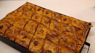РЕЦЕПТ Армянская Пахлава ВКУСНАЯ(Пахлава армянская – вкусное, ароматное и по-восточному сладкое блюдо. Форма 25*37 см., 2016-01-05T08:13:51.000Z)