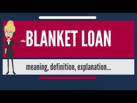 What is BLANKET LOAN? What does BLANKET LOAN mean? BLANKET LOAN meaning, definition & explanation