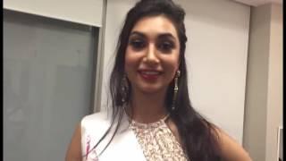 Anzhelika Tahir (Miss Pakistan World 2015 ) and Makeup Artist Amisha Kiri Hitt.